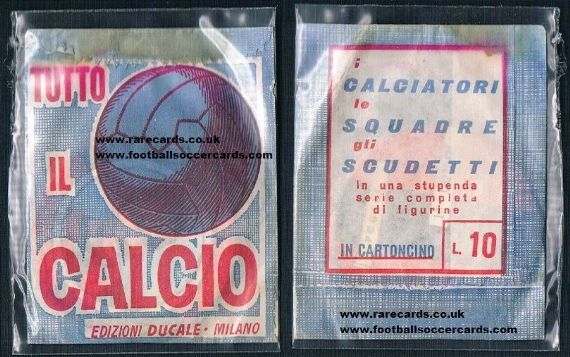 1965 card discs footballers wrapper
